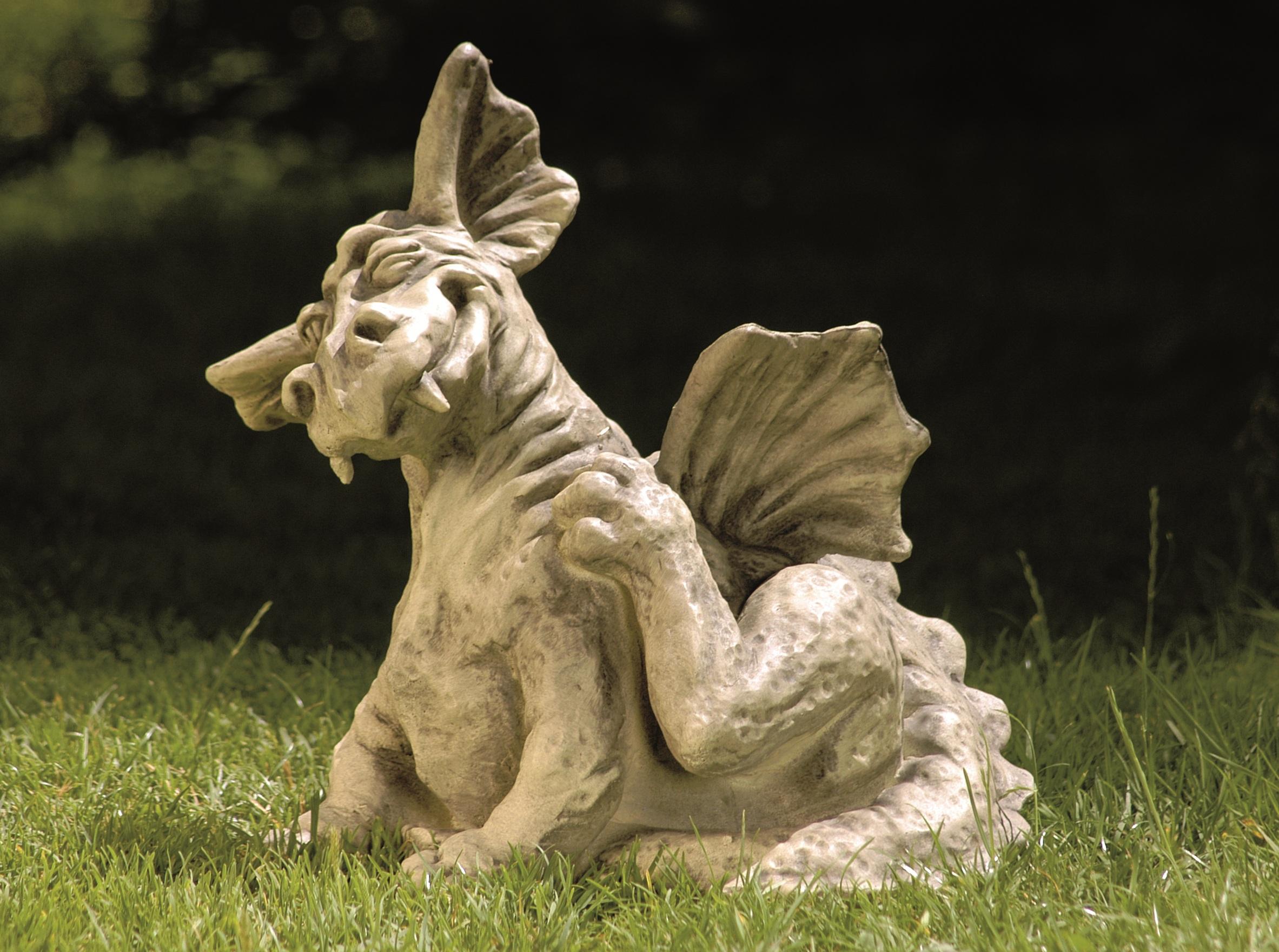 drache scratch gartendeko steinfigur devonshire, Garten ideen
