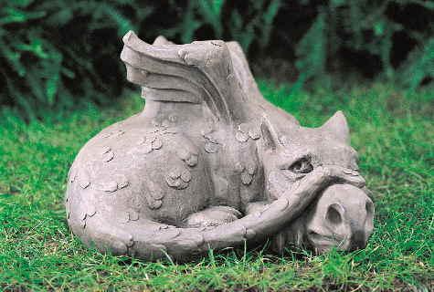 drache old smug gartendeko steinfigur devonshire, Garten ideen