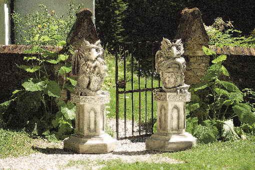 drache torwächter gartendeko steinfigur devonshire, Garten ideen